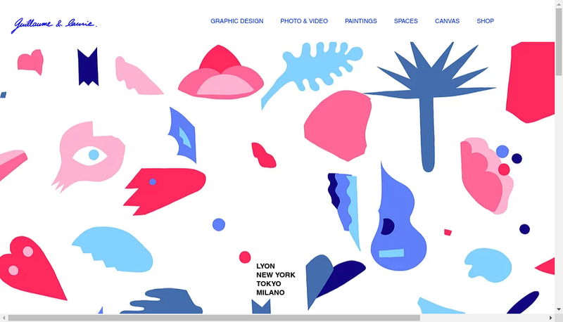 Capture d'écran du site de Guillaume & Laurie