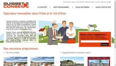 Site internet de Guisset Conseil