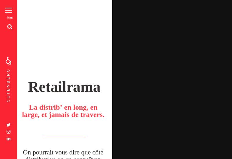 Capture d'écran du site de Gutenberg Networks