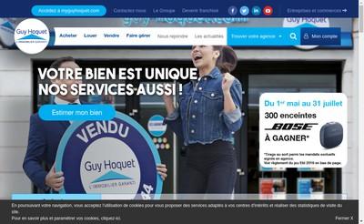 Site internet de Guy Hoquet Immobilier