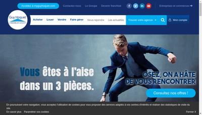 Site internet de L'Immobiliere de Gestion