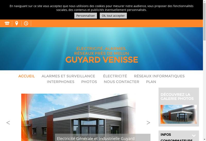 Capture d'écran du site de Guyard Venisse