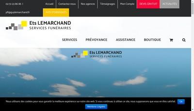 Site internet de Cercueil Etablissements Guy Lemarchand Serv Funerai