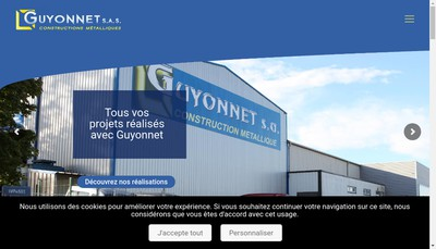 Site internet de Guyonnet Constructions Metalliques