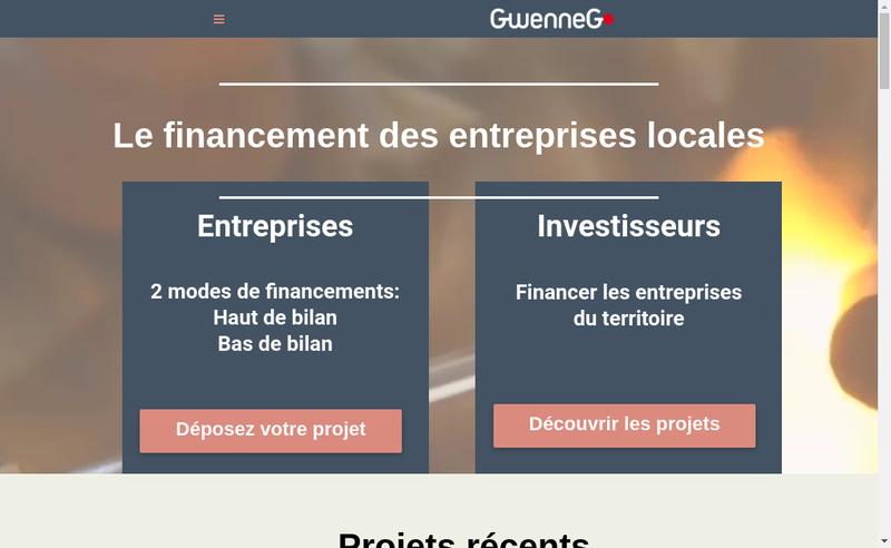 Capture d'écran du site de Gwenneg