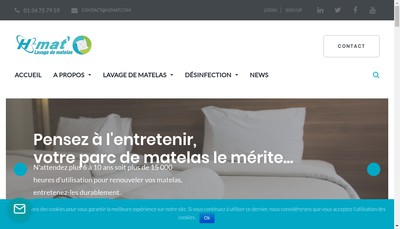 Site internet de H2Mat'