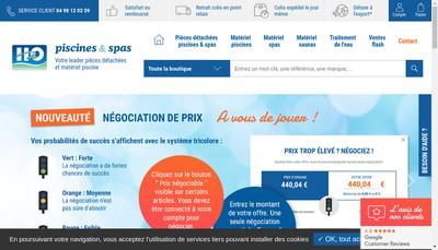 Site internet de H2O Piscines et Spas Com