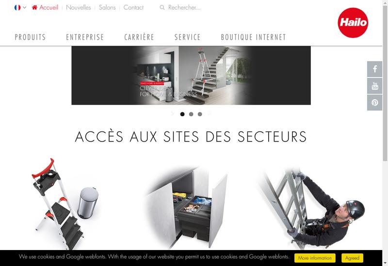 Capture d'écran du site de Hailo France