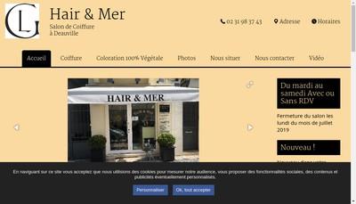 Site internet de Hair & Mer