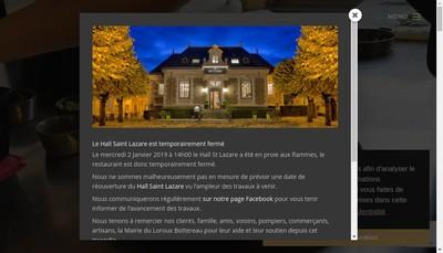 Site internet de Hall Saint Lazare