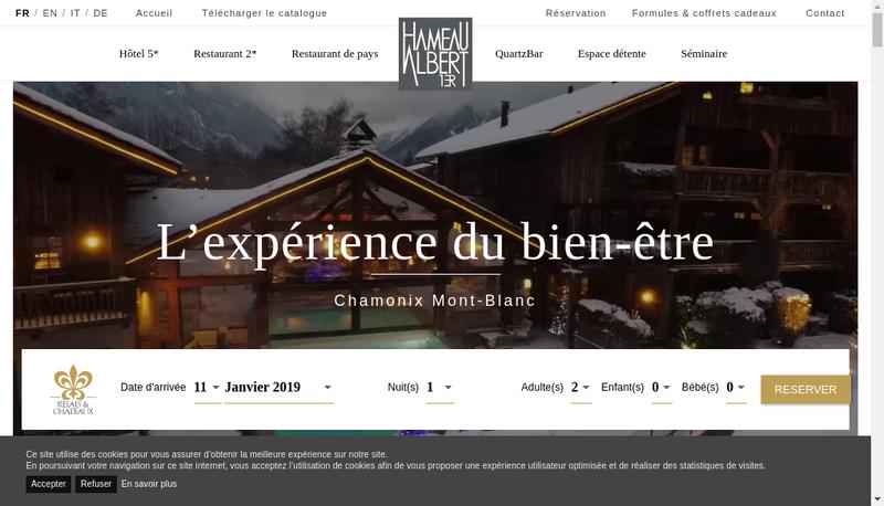 Capture d'écran du site de Le Hameau Albert 1Er