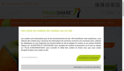 Site internet de Handishare