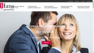 Site internet de Hans et Associes Strasbourg