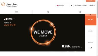Site internet de Hanwha Techwin Europe Limited