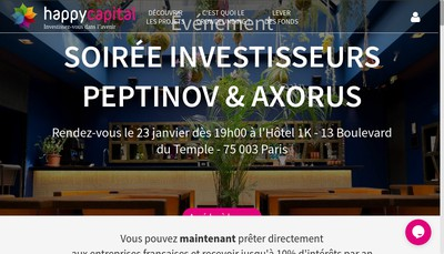 Site internet de Happy Capital