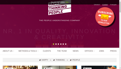 Capture d'écran du site de Happy Thinking People France