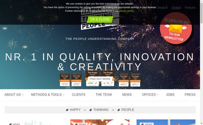 Site internet de Happy Thinking People France