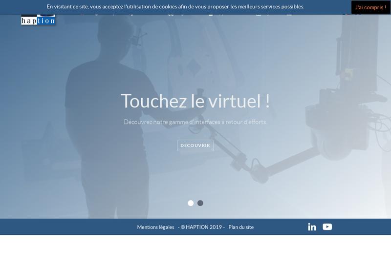 Capture d'écran du site de Haption