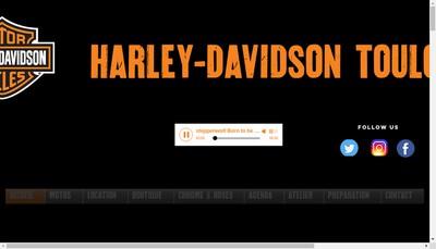Site internet de Harley Davidson Toulon