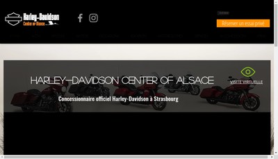 Site internet de Harley Davidson Center Of Alsace