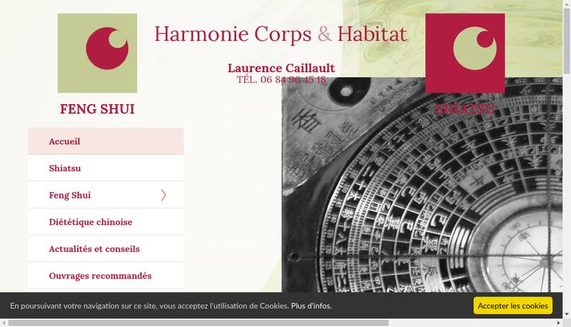 Capture d'écran du site de Harmonie Corps et Habitat