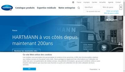 Site internet de Paul Hartmann SAS