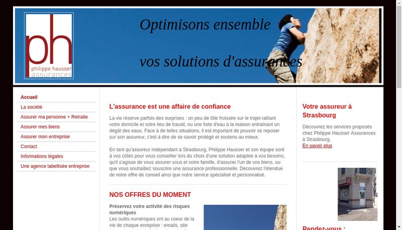 Capture d'écran du site de Philippe Hausser