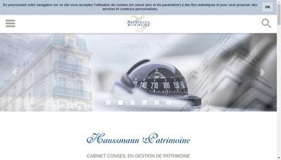 Site internet de Haussmann Patrimoine