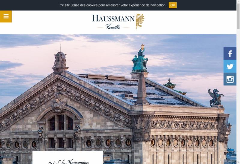 Capture d'écran du site de Haussmann Famille