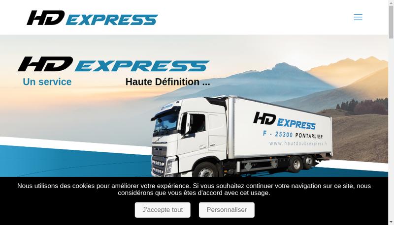 Capture d'écran du site de Hd Express