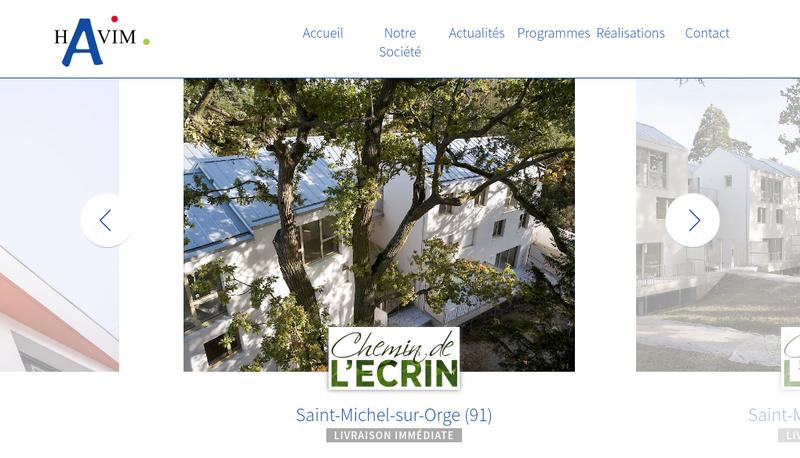 Capture d'écran du site de Havim