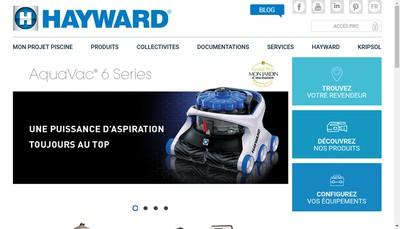 Site internet de Hayward Pool Europe SA