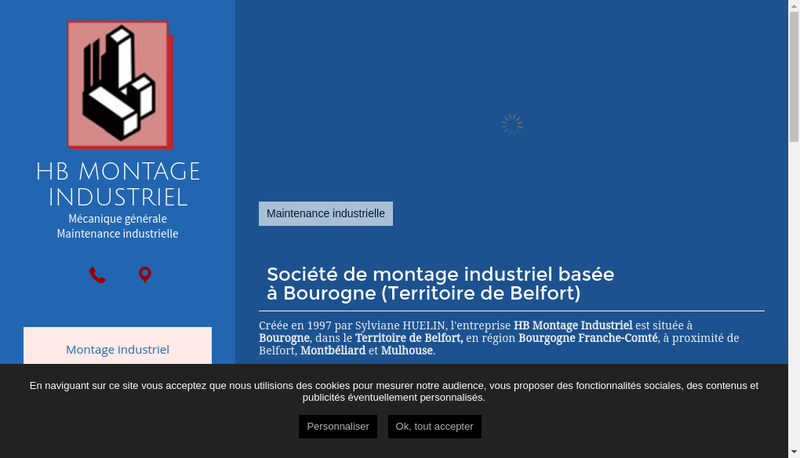 Capture d'écran du site de Hb Montage Industriel