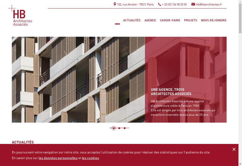 Capture d'écran du site de HB Architectes