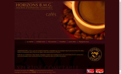 Site internet de Horizons Bmg