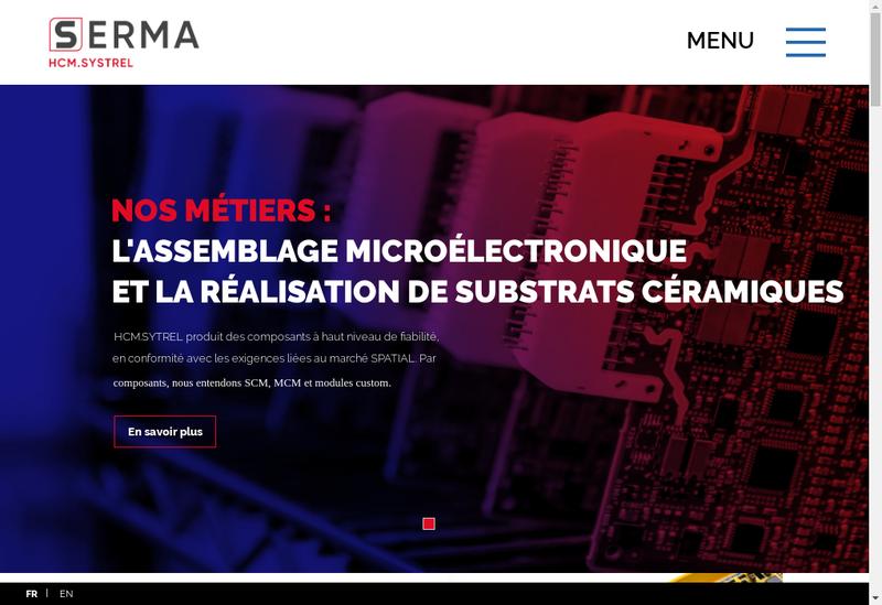 Capture d'écran du site de Hcm Systrel