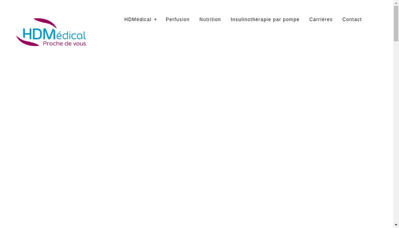 Capture d'écran du site de Hd Medical