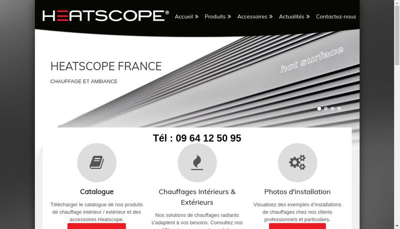 Capture d'écran du site de Heatscope France
