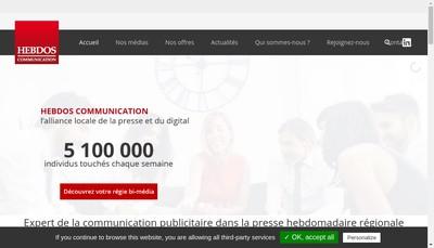 Site internet de Hebdos Communication