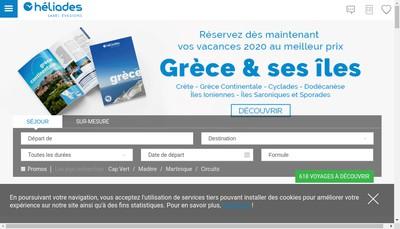 Site internet de Heliades Pleiades Nissaki Ag Air Grece