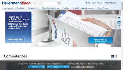 Site internet de Hellermann - Cuboplastic - Tyton - Rw D