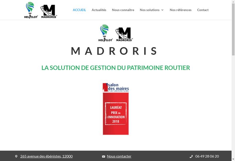 Capture d'écran du site de Helpilot
