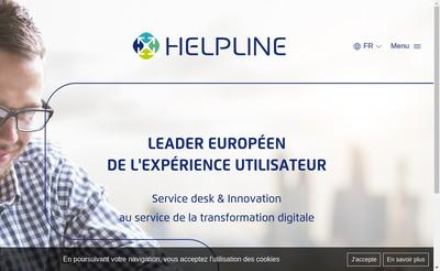 Site internet de Helpline