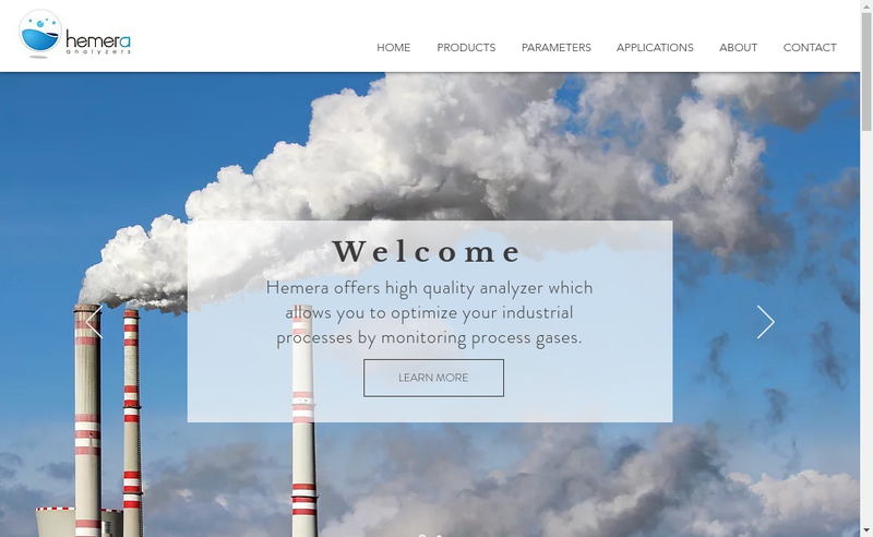 Capture d'écran du site de Hemera