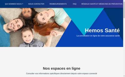 Site internet de Hemos Sante