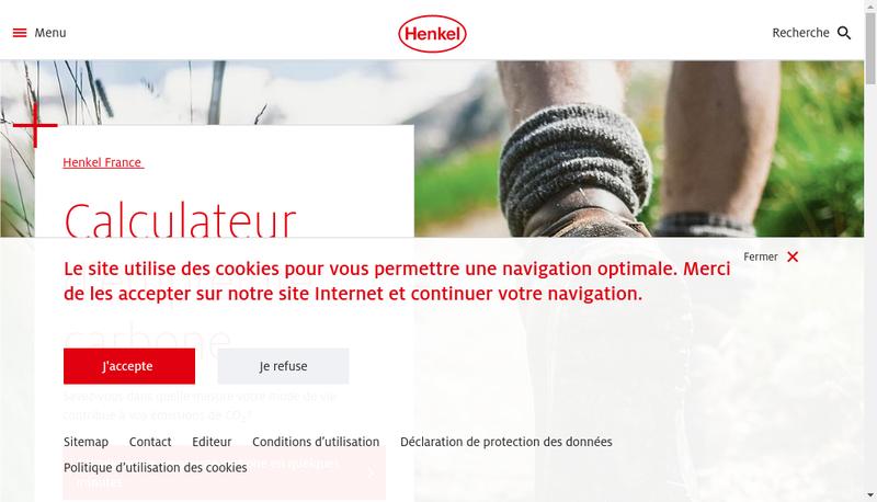 Capture d'écran du site de Henkel Technologies France