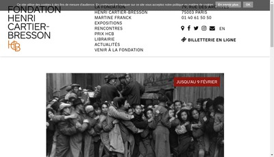 Site internet de Fondation Henri Cartier Bresson