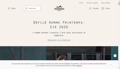 Site internet de Hermes