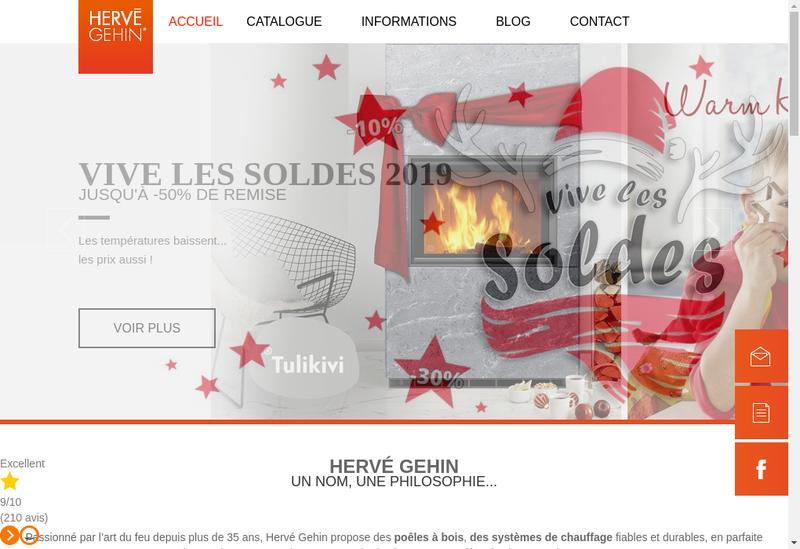 Capture d'écran du site de Tulikivi