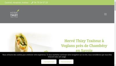 Site internet de Herve Thizy Traiteur